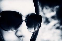 Infinito (u.giommetti) Tags: portrait blackandwhite italy woman glasses donna europa europe italia ritratto biancoenero occhiali