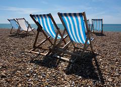 A day on the beach (SamKirk9) Tags: blue sea sky brighton deckchair brightonbeach seasideresort