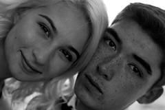 Nick and Mir (samdabull) Tags: blackandwhite filmcamera olympusom1 analogcamera 50mmf14zuiko