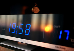 time to sunset (Gabriel Kay) Tags: sunset sun reflection clock digital mirror display time indoor temperature
