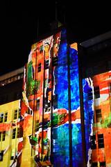 Technicolour MCA (_wintermute) Tags: light art night colours contemporary sydney vivid catchy museam vividsydney