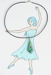dichroic glass pendant (jani.na) Tags: ballet glass leather silver cord dance ballerina jewelry tnzer dancer diamond jewellery tanz sterling glas schmuck jani leder pendant kette anhnger dichroic schlips nanavati halskette tnzerin lederband ballerinaatheart