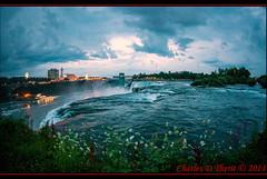 Nightime falls over Niagara (ctofcsco) Tags: 120 15mm 40 5d 5dclassic 5dmark1 5dmarki americanfalls can canada geo:lat=4308365075 geo:lon=7907038128 geotagged niagarafallscentre niagarafallssoutheast ontario canon ef815mmf4lfisheyeusm eos5d explore fisheye landscape newyork niagarafalls unitedstates usa water waterfall dusk outdoor skyline sky cloud river