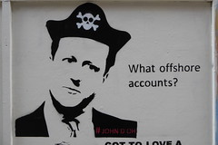 What offshore accounts? John D'oh stencil (duncan) Tags: streetart stencil shoreditch davidcameron johndoh
