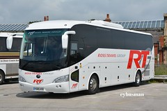 Ross Travel, Featherstone YG65ASO. (EYBusman) Tags: road park new travel west bus ross coach yorkshire group east independent brand rt bridlington featherstone yutong tc12 hilderthorpe eybusman yg65aso