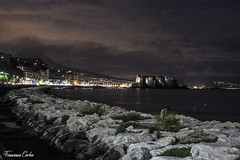 La poesia della mia citt (atrialbyfire) Tags: napoli naples italy italia lungomare lungomarecaracciolo mare sea seaside seascape seascapes night bynight lights love notte clouds cloud nuvole nuvola mediterraneo notturno