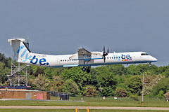"""G-JECO DHC-8Q 402 Flybe MAN 03-06-16 (PlanecrazyUK) Tags: egcc manchester man ringway """"manchester airport"""" gjeco dhc8q402 flybe 030616"""