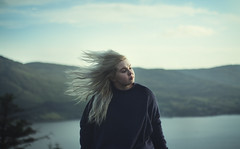 Something Beautiful (nathanmagee) Tags: sea portrait mountains nature water hair wind surreal emotional sortofmylittleduck