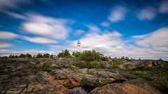 Lighthouse (JH') Tags: nikon nikond5300 nature summer d5300 trees rocks sky clouds sigma 1020 landscape longexposure exposure lighthouse highcoast coast