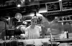 food kiosk (Yaman Konuralp) Tags: portrait faces street streetphotography nikon nikonf ais 35mm film nippon kogaku japan standdevelopment agfa diy noir night rodinal hc101 r09 grain