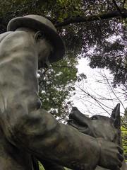 Hachiko IV (Douguerreotype) Tags: city friends dog art statue japan tokyo memorial