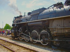 On the scene @ the Franklin Park Rail Day 6/11/16. (Chicago Rail Head) Tags: localrailroad firsttime steamlocomotive locomotivesondisplay passengercars emergencyvehicles 61116 mow equiment ondisplay nickelplateroad 284 1944 lima