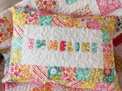 Sham-name-applique_000018 (irina_vykhrestiuk) Tags: modern quilt handmade homemade twin kid child patchwork bedding bed quilting memory throw