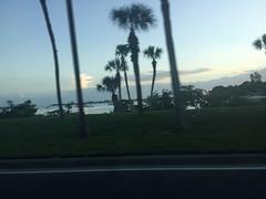 Twilight (soniaadammurray - SLOWLY TRYING TO CATCH UP) Tags: road trees light sea sky nature clouds twilight driving digitalphotograhy tuesdaythursdaythings