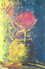 toward the light (muslim.algerian) Tags: life blue original light shadow red abstract art rose yellow dark painting still impressionism meb artworks