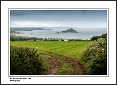 Mounts Bay towards St Michael's Mount and The Lizard (Chalky666) Tags: sea seascape landscape island bay cornwall lizard