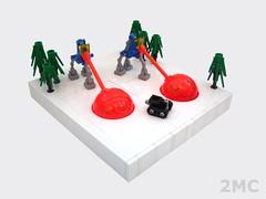 Tripod Attack! (2 Much Caffeine) Tags: tank lego walker deathray moc microscale