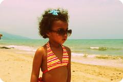 Mi pequeña sirena (rintintina) Tags: sea portrait baby cute love girl children mar nikon babies little playa arena mermaid kiddies sirena d60