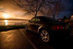 Sunset with TT (Joseph Eckert) Tags: sunset sun lake storm car clouds zeiss washington high dynamic sony automotive carl wa tt audi kirkland range hdr 1635mm greatphotographers a850 flickraward mygearandme oloneo