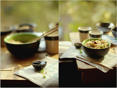 The sauce is Soy and the rice.. (~Dr.Silpa S GLH~) Tags: food woman india ikea canon grid diptych photographer image mosaic chinese chopsticks pottery soysauce greentea friedrice crockery fabindia doyouknow eatingin parwanoo cookingathome becauseidontknow eos7d innaturallight riotkitchendiaries glasslighthues gettyimagesindiaq4 idonteatwiththesticks youguesseditright