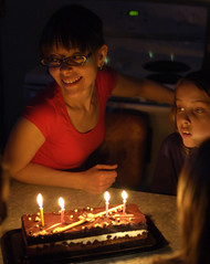 (Bo No Bo) Tags: birthday light kitchen cake d50 table fire cuisine spring candle montréal lumière indoors fête printemps anniversaire feu intérieur chandelle mélanie gâteau verdun lumire rayane g‰teau