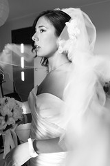 voile et vents (Ali-smile!) Tags: wedding portrait bw woman bride blackwhite donna friend bn chiara voile ritratto matrimonio velo amica sposa