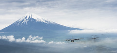 Coming round the mountain (Official U.S. Air Force) Tags: japan fuji aircraft aviation military apo ap airforce usaf hercules c130 usairforce airman airmen departmentofdefense