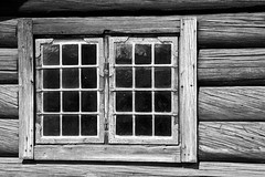 A Window To The Past (Viking-) Tags: old white house black window oslo norway museum farmhouse wooden squares farm bygdy folkmuseum norskfolkemuseum