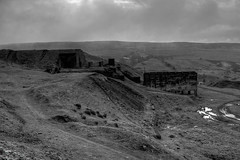Titterstone Clee Hill (yamahapaul) Tags: blackandwhite building abandoned canon buildings mine shropshire quarry hdr abandonedbuilding lightroom abandonedbuildings photomatix cleehill titterstone photomatixhdr titterstonecleehill yamahapaul canoneos5dmark2 eos5dmark2