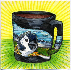 I drew you Roman's Vacation mug of coffee (bortwein75) Tags: vacation food color colour art coffee illustration pen ink fun flickr drink roman drawing internet humor beverage disney mug series highlighters threadless whiteout markers postitnote bortwein