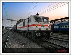 Kalka Mail With Howrah (HWH) WAP-7 #30308 (Trains Unlimited !!!) Tags: train ir mail delhi indian engine rail trains engines locomotive express local newdelhi kalka fanning indianrailways ghaziabad irfca gzb 30308 ndls wap7 kalkamail adarshnagarstation