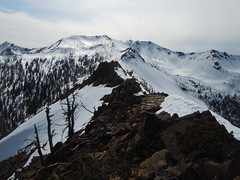 Looking back at Highchair and 6600 Ridge