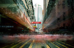The big rush (briyen) Tags: city urban blur bay colorful long exposure crossing slow crowd hong kong busy shutter salami causeway