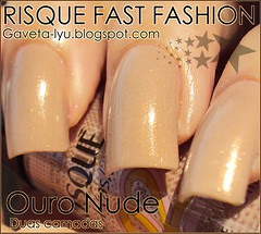 GAVETA LYU | Esmalte Risque | Fast Fashion 02 | Ouro nude (Gaveta Lyu) Tags: polish nails unhas risque esmalte