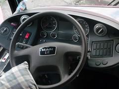 MAN 18.350 cockpit (bhettina limchu) Tags: blue man bus florida deluxe interior philippines north cockpit restroom ilocos laoag 2x1 norte luzon equipped gv r39 18350 gd26