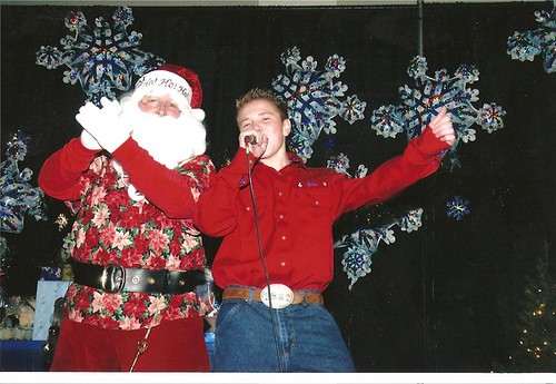 Jacob Nelson and Santa Claus