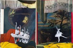 Colagem Nº 51 - Le lac des cygnes (Felipe Zúñiga) Tags: art collage sketchbook swanlake colagem handmadecollage lelacdescygnes sketchbookart visualhallucinations sketchbookcollage collagism colagismo felipeweyer thebookofdaydreams