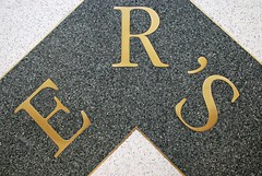 ERS (i_gallagher) Tags: mall floor text capital s case commercial r e worn norwich brass serif polished apostrophe terrazzo inlay 2016 idg castlemall farmersavenue
