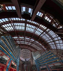 James R. Thompson Center (Jovan Jimenez) Tags: camera blue red sky panorama fish chicago eye window station mobile train lights james spider cta phone angle pano web wide cell samsung center fv5 panoramic il galaxy r thompson hdr android s6 veganphotographer 100wrandolphst