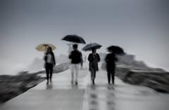 Under my umbrella (liipgloss) Tags: ocean storm abstract beach rain umbrella newcastle australia nsw 52frames