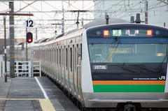 E233 at Mishima station (hisanori61) Tags: e233 station mishima mishimastation train jr