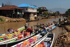 Off Inle Lake (Alan1954) Tags: holiday water boats asia burma myanmar inlelake 2016