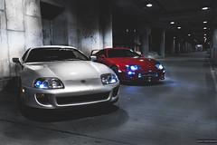 Toyota Supra TT (Richy Contreras) Tags: city chicago car japan night canon tunnel turbo midnight toyota 5d jdm stance supra