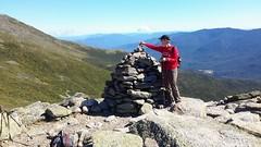 Half-way up our 4,400' climb - Mt. Washington in NH