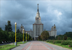 Russia. Moscow. Moscow State University. (Yuri Degtyarev) Tags: city building architecture sisters skyscraper four lumix university state russia moscow main msu ciudad panasonic seven soviet micro stadt g3 russian moskau federation 43 ussr thirds  moscou 582  stalinist epoch    fourthirds   ehir helios442         442   ft dmcg3