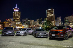Group Picture (lilaznviper) Tags: city ford skyline vancouver honda accord downtown britishcolumbia sienna edge toyota corolla hondaaccord toyotacorolla fordedge toyotasienna