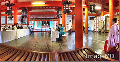 Shinto Wedding (ImageMD) Tags: wedding panorama japan shrine ceremony miyajima shinto iphone itsukushima