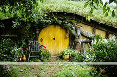 Hobbiton movie set - New Zealand (Naomi Rahim (thanks for 2 million hits)) Tags: newzealand nz 2016 northisland hobbiton matamata movieset movie set lotr lordoftherings thehobbit hobbit architecture house grass green colourful nikon nikond7000 travel travelphotography wanderlust door yellow