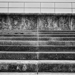 . . . seam (orangecapri) Tags: seawall orangecapri square squareformat monochrome bw blackandwhite seaside stone steps