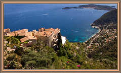 Eze (williamwalton001) Tags: trees sea sky france buildings boats cliffs coastal hillside borders landscapephoto